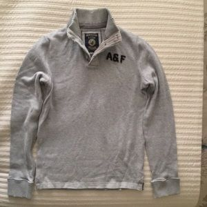 Shawl Collar Henley Sweater Abercrombie & Fitch M